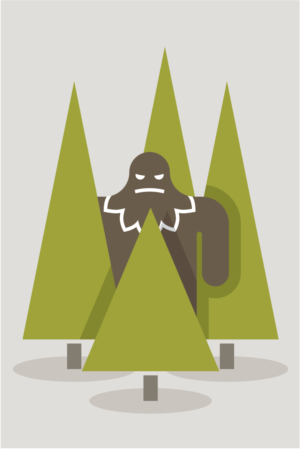 Sasquatch illustration by Mark Mularz of Fetch Design