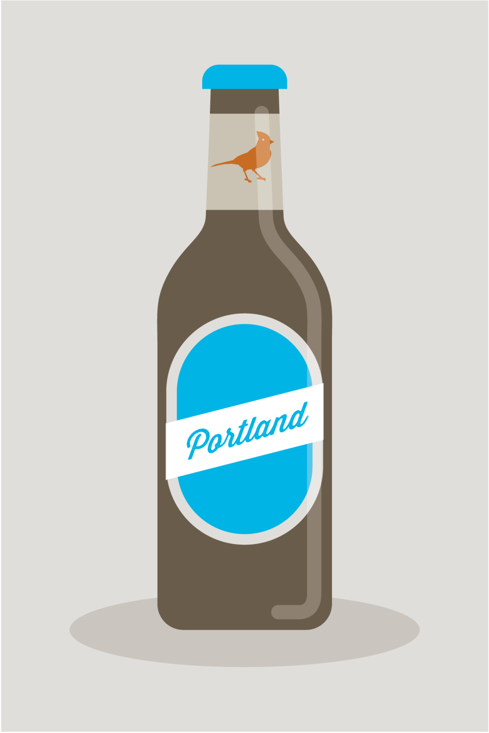 Portland beer illustration by Mark Mularz of Fetch Design.
