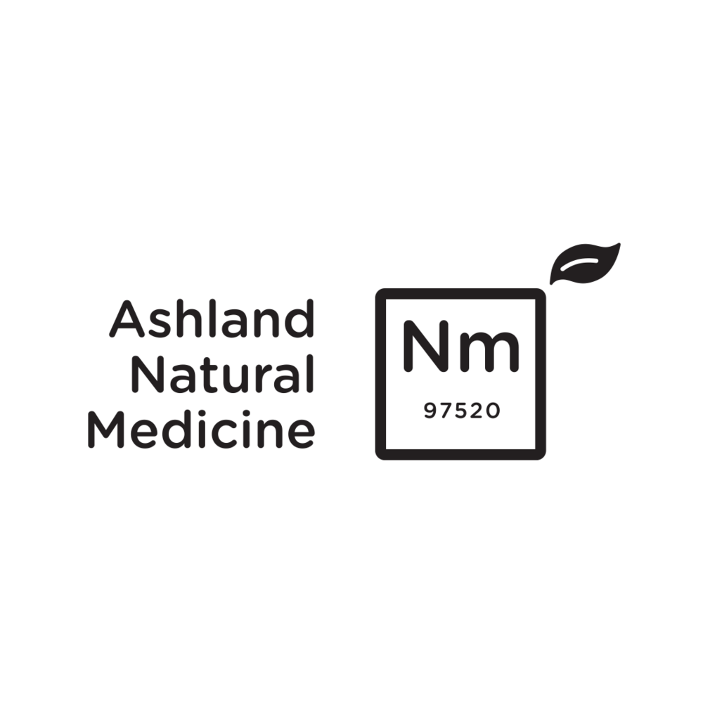 Ashland Natural Medicine logo, Ashland, Oregon – by Fetch Design, Portland, OR