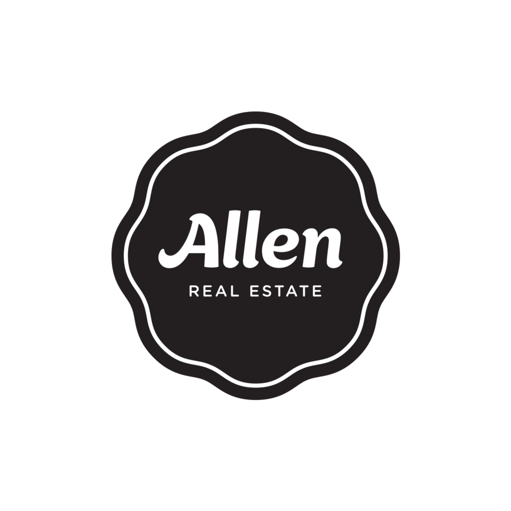 Allen Real Estate logo, Ashland, Oregon – by Fetch Design, Portland, OR