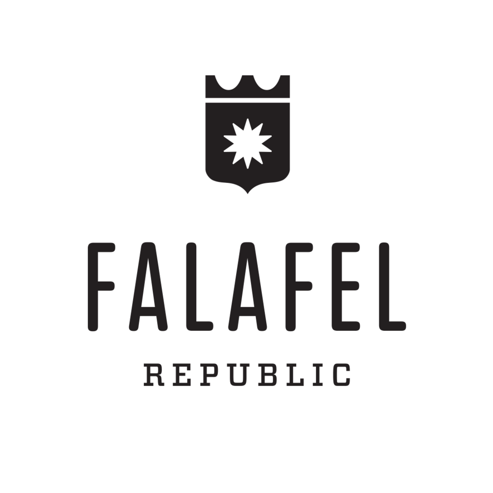 Falafel Republic logo, Ashland, Oregon – by Fetch Design, Portland, OR