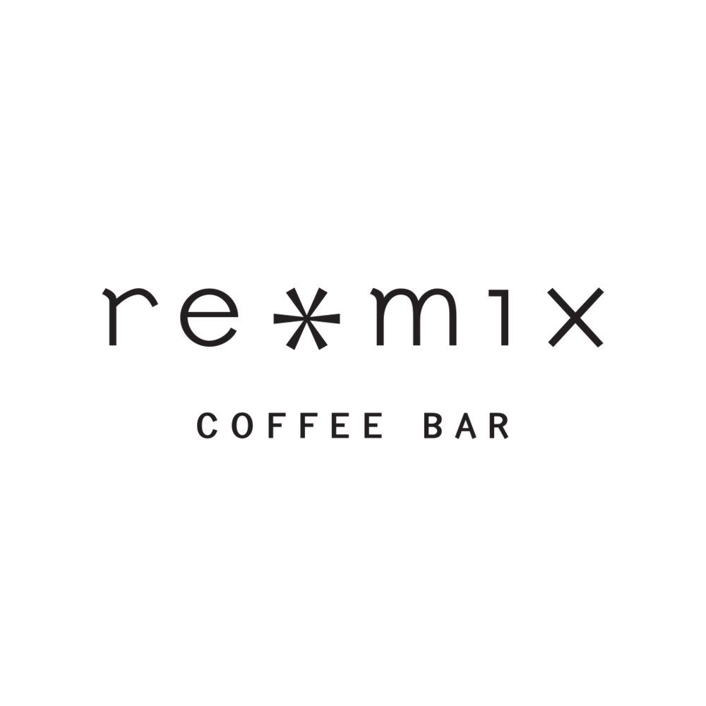 Remix Coffee Bar logo, Ashland, Oregon – by Fetch Design, Portland, OR
