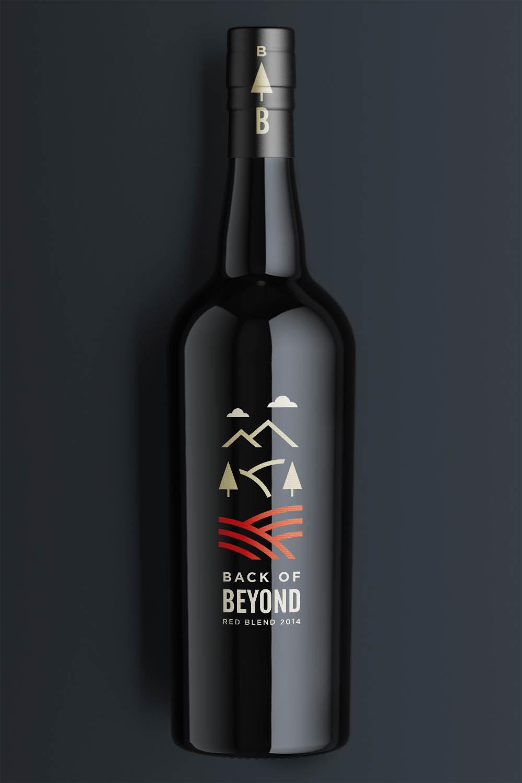 Back of Beyond wine bottle label design