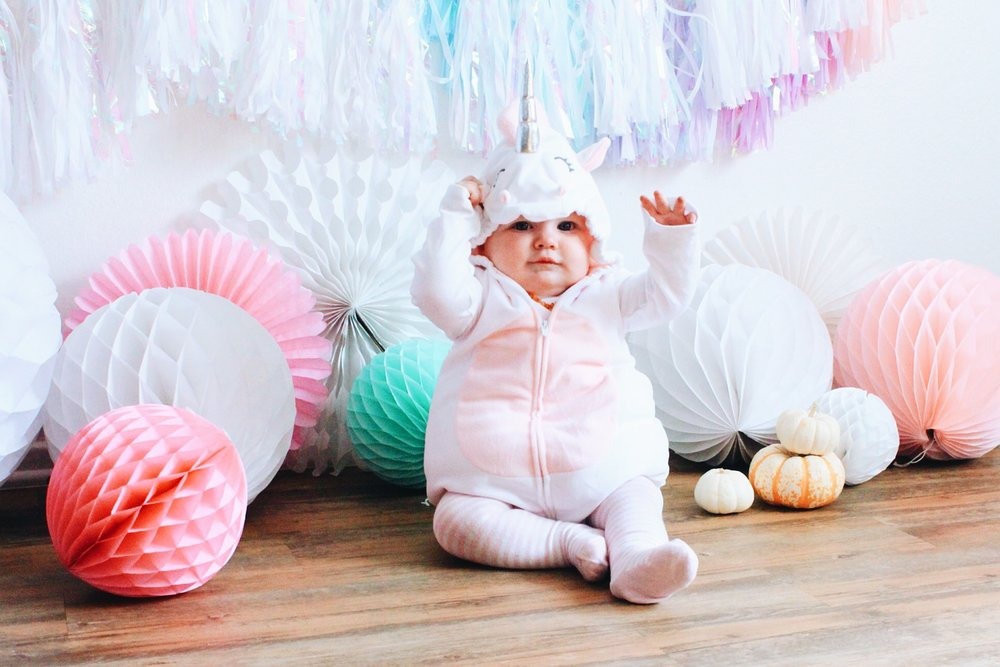 We saw that unicorn suit at Carters last month and snatched it up!! Honestly she looks like a marshmallow more than anything - but still the cutest ... & The Littlest Unicorn! u2014 PAPER FOX LA
