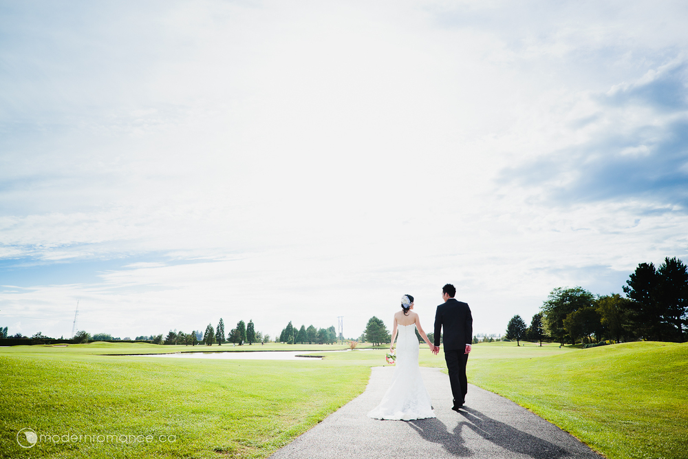 Eunice + Brian's beautiful sunny outdoor wedding at Mayfair Lakes Golf Course in Richmond.