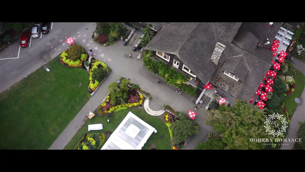 Screenshot of the aerial coverage at Stanley Park Pavilion. Love the bird's eye view of the venue.