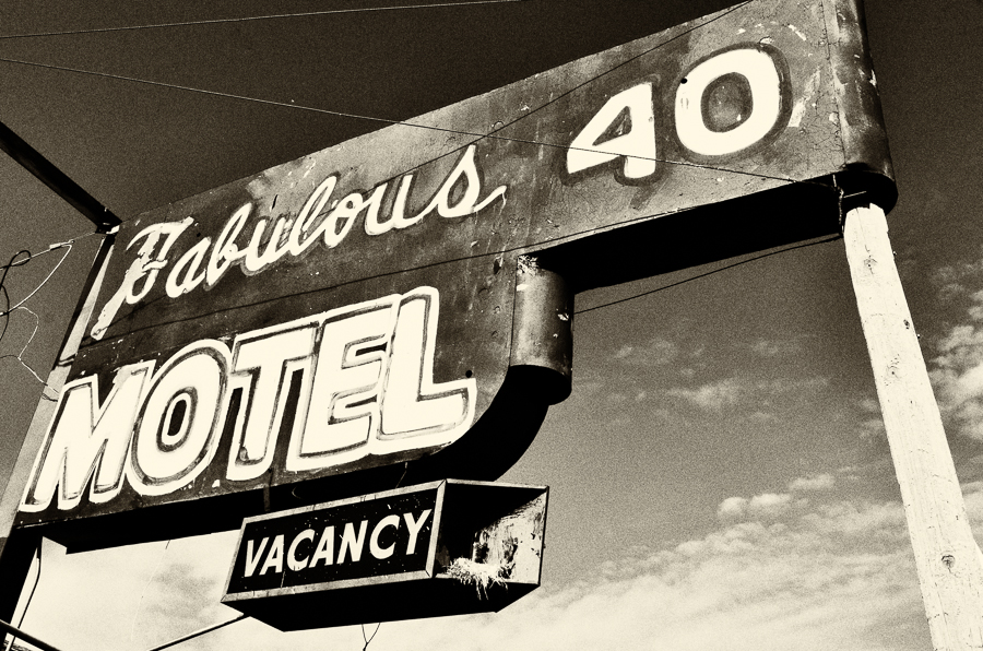Fabulos 40 Motel sign, Adrian, TX