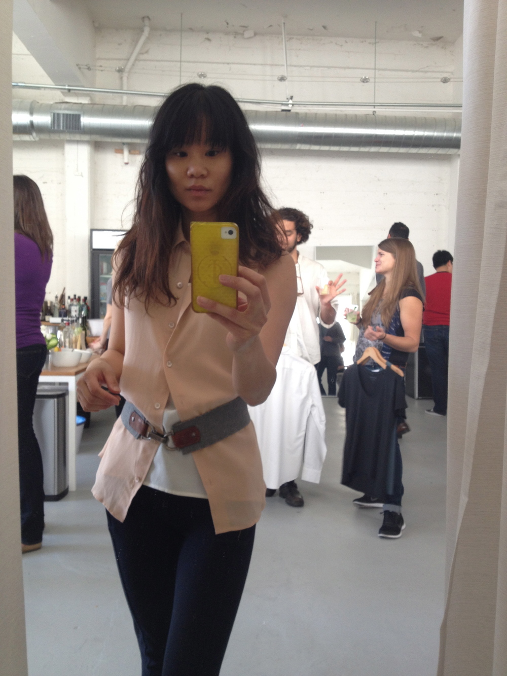 Selfie. I like Everlane's soft fabrics and translatable styles. They're ready for work and play!
