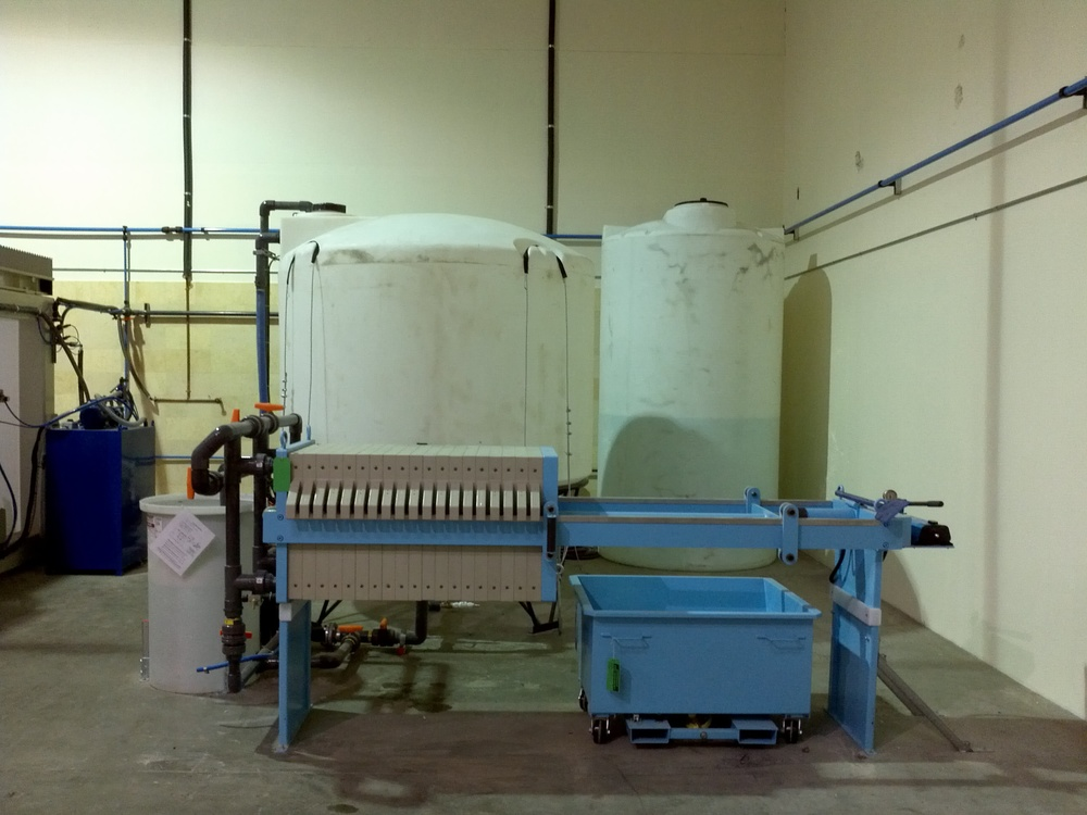 Water Recycling System at Antony Architectural Stone's Woodinville Manufacturing Facility