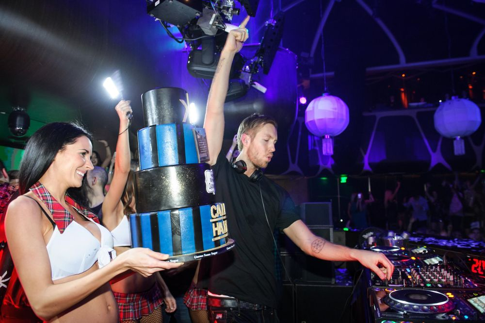 How has birthdays that big? Calvin Harris at Hakkasan does.