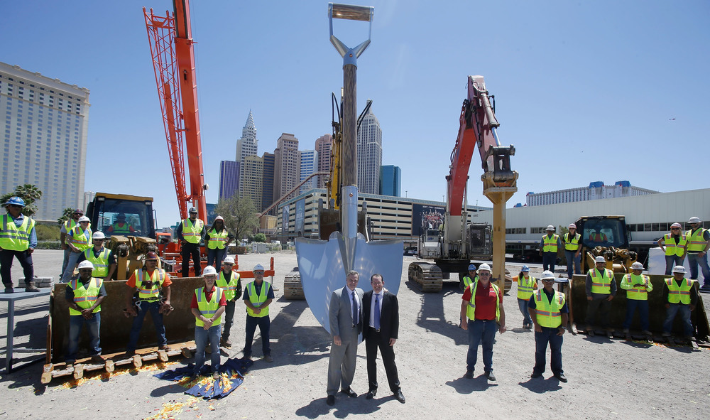 Everything is bigger in Vegas. Even the shovels.