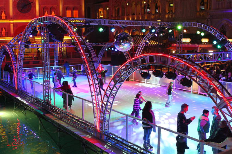 Ice skating with a strip view? Yep!