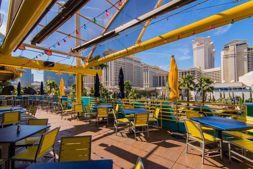 Margatitaville Las Vegas outside Flamingo Hotel & Casino