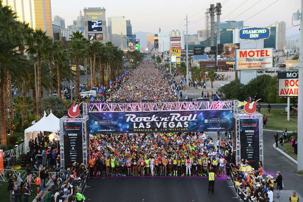 The yearly Rock & Roll Marathon down the famed  Las Vegas Strip