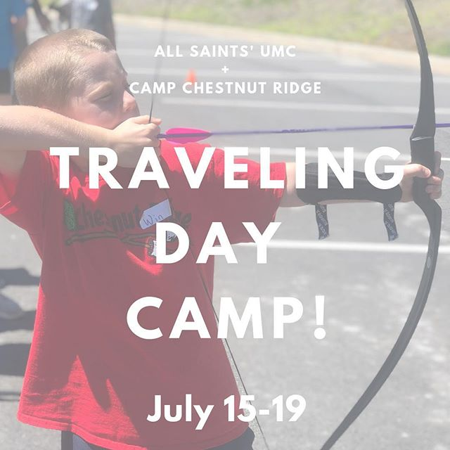Camp Chestnut Ridge is coming back to All Saints' this summer! ⛺️☀️🐢🏹🍎🎨 Open to grades 1-7. Sign up on our website!