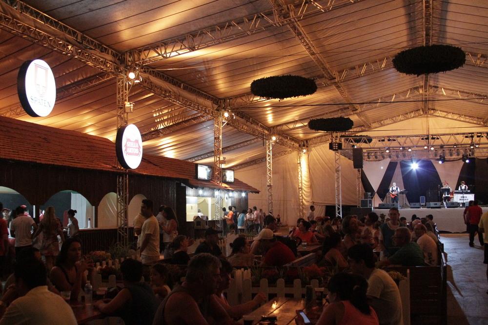 Bergarten é um dos espaços da Sommerfest (Foto: Altair Nobre)
