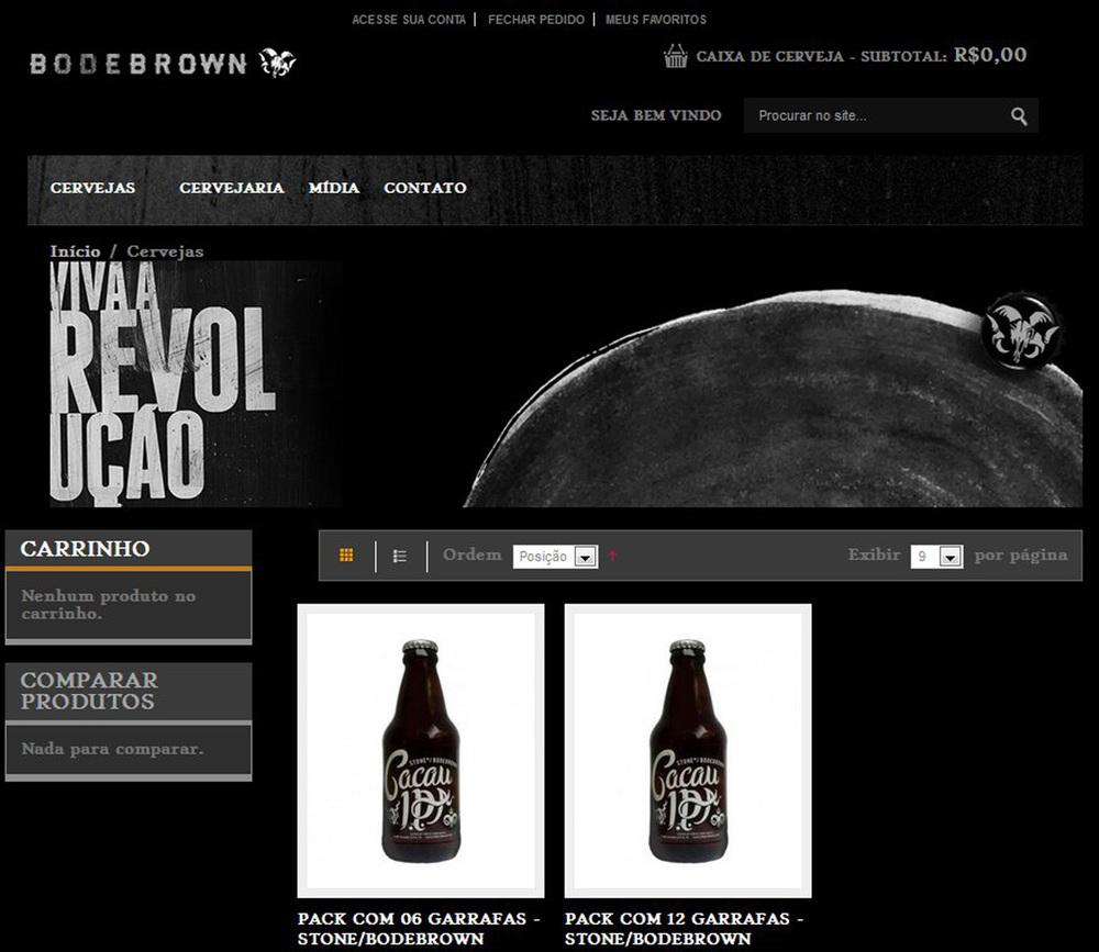 Visual do espaço de venda online no site da Bodebrown (Foto: Divulgação)