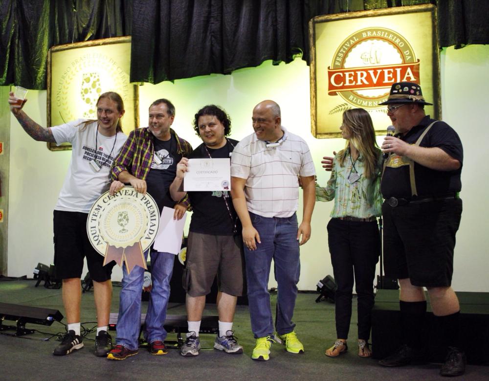 A Gauden Bier ficou com a terceira posição no pódio, entre as mais premiadas cervejarias (Foto: Ricardo Jaeger)