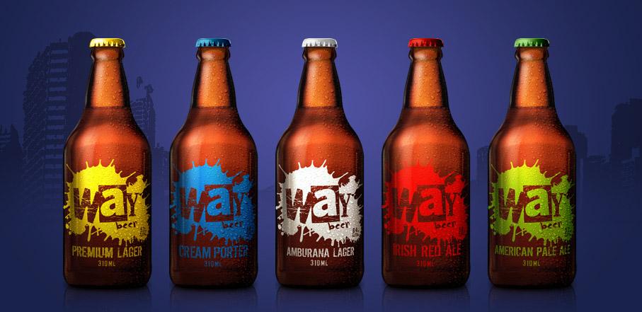 Rótulos da Way Beer, do Paraná, que serão encontrados com mais facilidade no mercado mineiro (Foto: Divulgação)