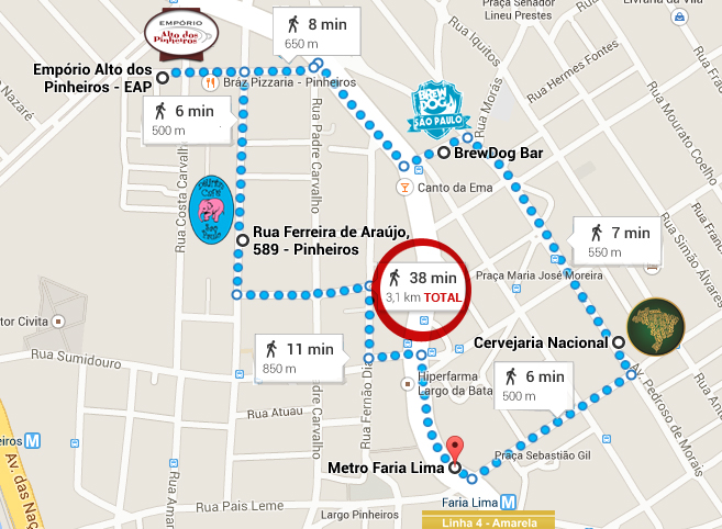 Confira o mapa preparado pelo jornalista e sommelier Raphael Rodrigues