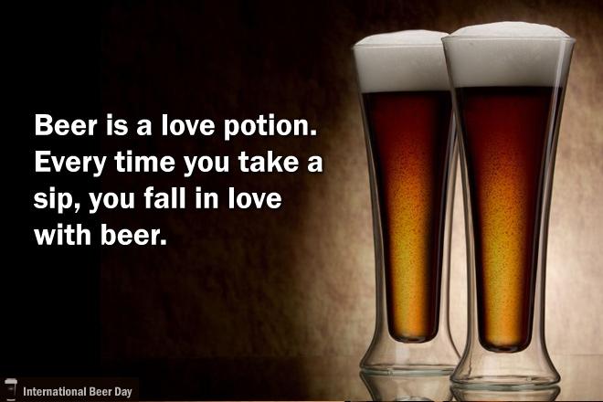 """""""A cerveja é uma poção do amor. Toda vez que você toma um gole, você se apaixona""""(Foto: Divulgação International Beer Day)"""