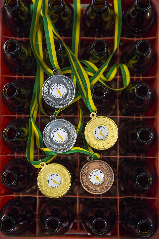 Na South Beer Cup 2014, a Tupiniquim arrebatou dois ouros, duas pratas e um bronze (Foto:Ricardo Jaeger/Revista Beer Art)