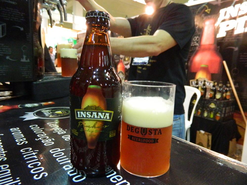 Insana Pinhão, uma boa barley wine de edição limitada, lançada no Degusta Beer & Food (Foto: Raphael Rodrigues/Especial Beer Art)