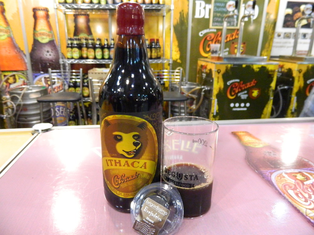 Para harmonizar com a Ithaca, a cervejaria levou ao Degusta Beer brigadeiros feitos com base na cerveja (Foto: Raphael Rodrigues/Especial Beer Art)