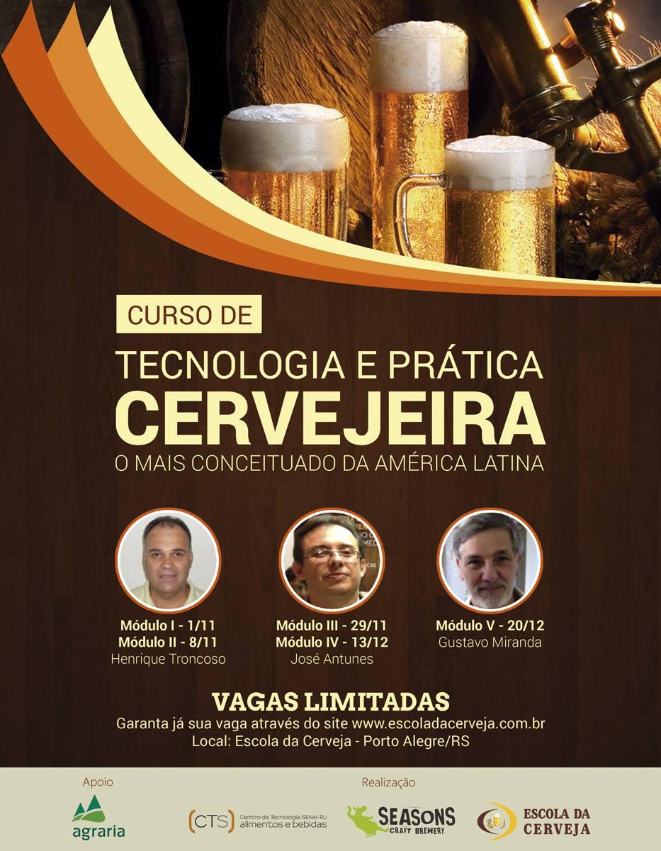 Curso é do Senai/Vassouras, levado à capital gaúcha pela Escola da Cerveja e pela Cervejaria Seasons, com patrocínio da Agrale