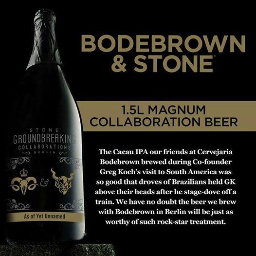 """""""Não temos dúvida de que a cerveja produzida com a Bodebrown em Berlim será digna do tratamento de uma estrela do rock"""", destaca a peça de divulgação da Stone(Foto: Divulgação)"""
