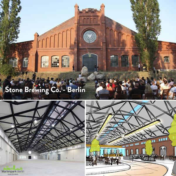 O atual prédio e o projeto da Stone em Berlim (Foto: Divulgação)