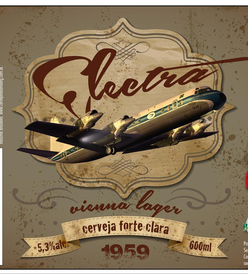 O nome da Vienna Lager, produzida pela Bamberg, é uma referência ao avião que se tornou ícone da ponte aérea Rio-SP (Foto: Divulgação)