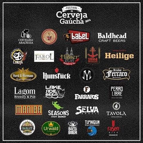 Na imagem, as 26 cervejarias que estarão presentes no Festival (Foto: Divulgação)