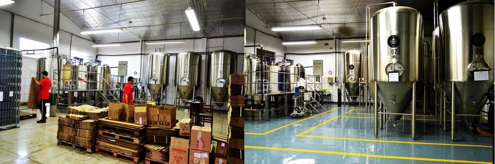 Antes e depois da Cervejaria Invicta que, com apenas 3 anos de existência, precisou passar por ampliaçõespara atender a crescente demanda (Foto: Divulgação)