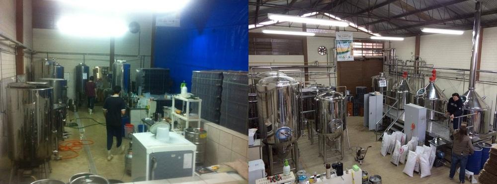 Da esquerda para direita: obras de expansão da Seasons, em 2013  e a nova cozinha em 2014 (Foto: Divulgação)