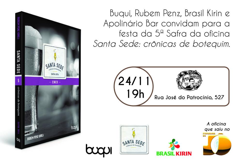 O lançamento será no bar Apolinário que foi palco das oficinas literárias (Foto: Divulgação)