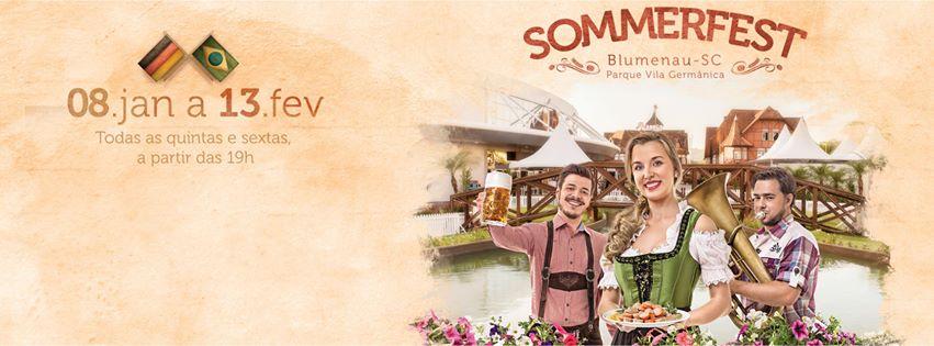 A Sommerfest ocupa três ambientes do Parque Vila Germânica (Foto: Divulgação)