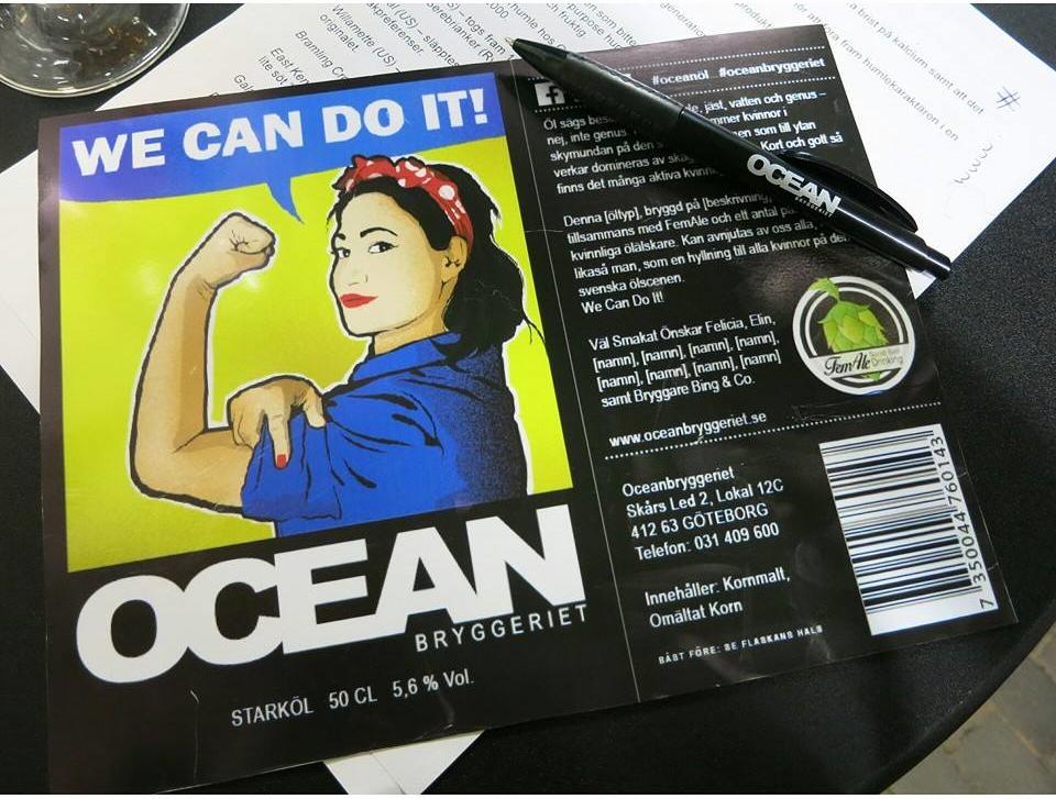 Rótulo se inspira em Rosie the Riveter, um símbolo da força da trabalhadora (Foto: Divulgação/FemAle)