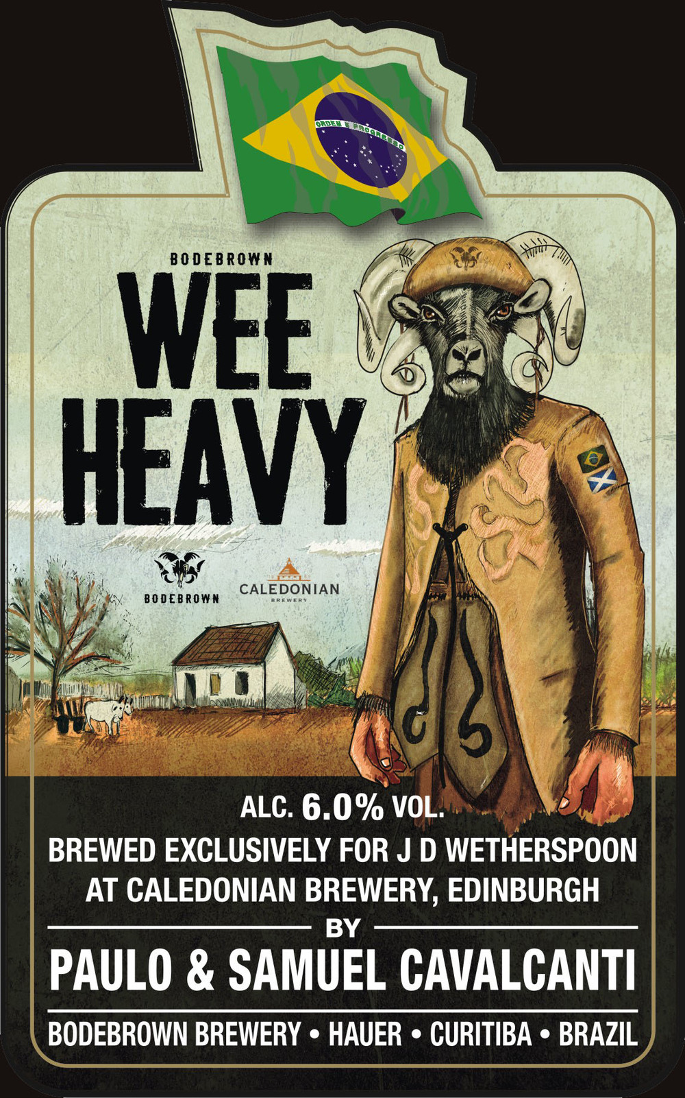 A Wee Heavy premiada foi produzida em parceria com a escocesa Caledonian (Foto: Divulgação)