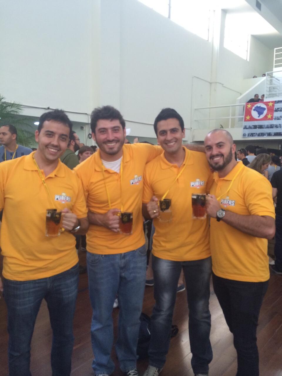 Da esquerda para a direita, os sóciosRafael Alves, João Vitor Lanni, Marco Antonio Almeida e Renan Prado (Foto: Divulgação)