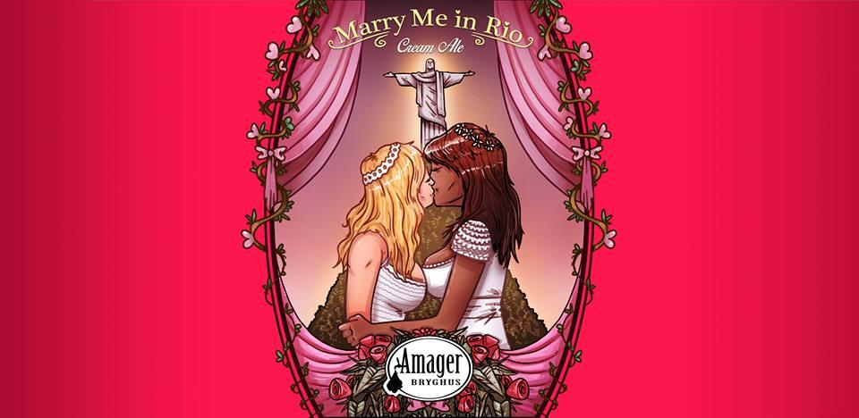 Rótulo da Marry me in Rio, cerveja colaborativa da 2Cabeças com a dinamarquesa Amager (Foto: Divulgação)