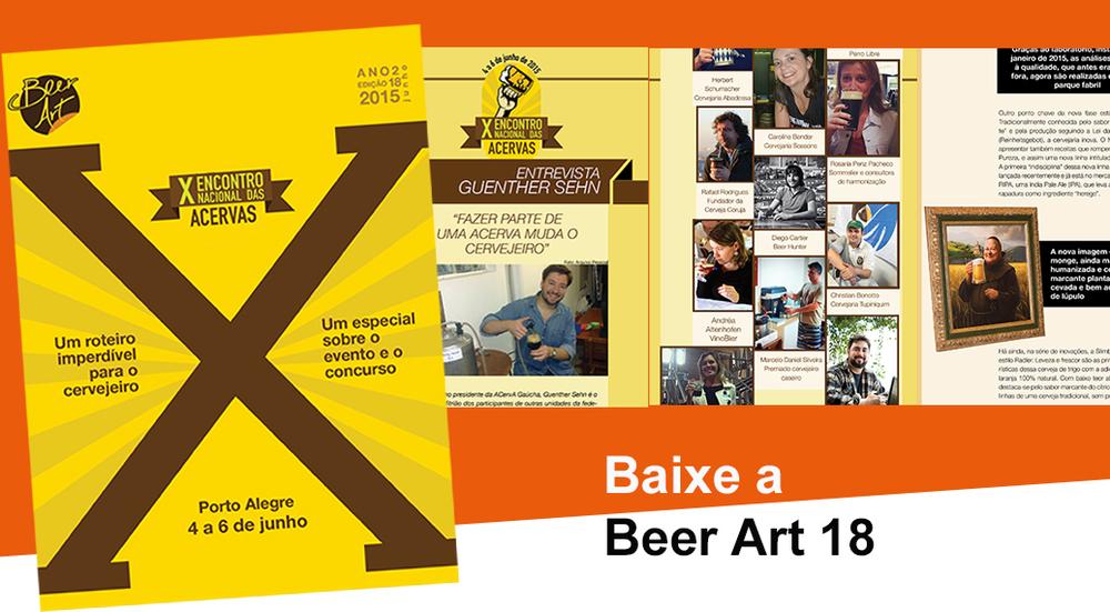 Reportagem sobre o Encontro das Acervas tem conteúdos que interessam a cervejeiros em geral, entre outros destaques da edição 18