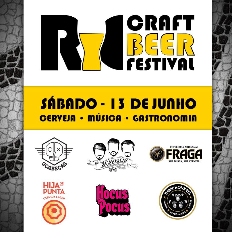 O evento vai reunir as cervejarias2cabeças, 3cariocas, Cervejaria Fraga, Hija de Punta, Hocus Pocus e Three Monkeys (Foto: Divulgação)