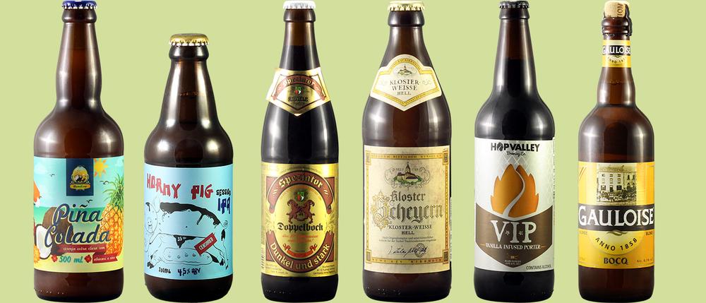 Kits do mês reúnem duas cervejas brasileiras, duas alemãs, uma americana e uma belga