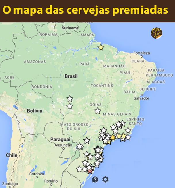 mapa das cervejas premiadas