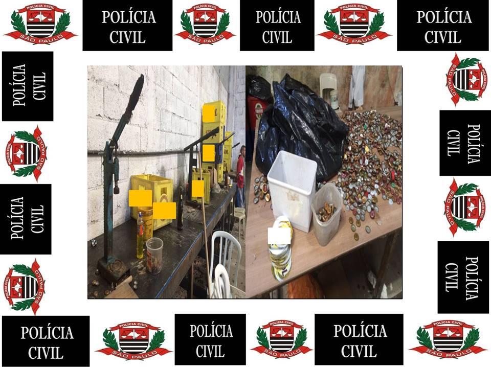 Imagens divulgadas pela Polícia Civil de São Paulo