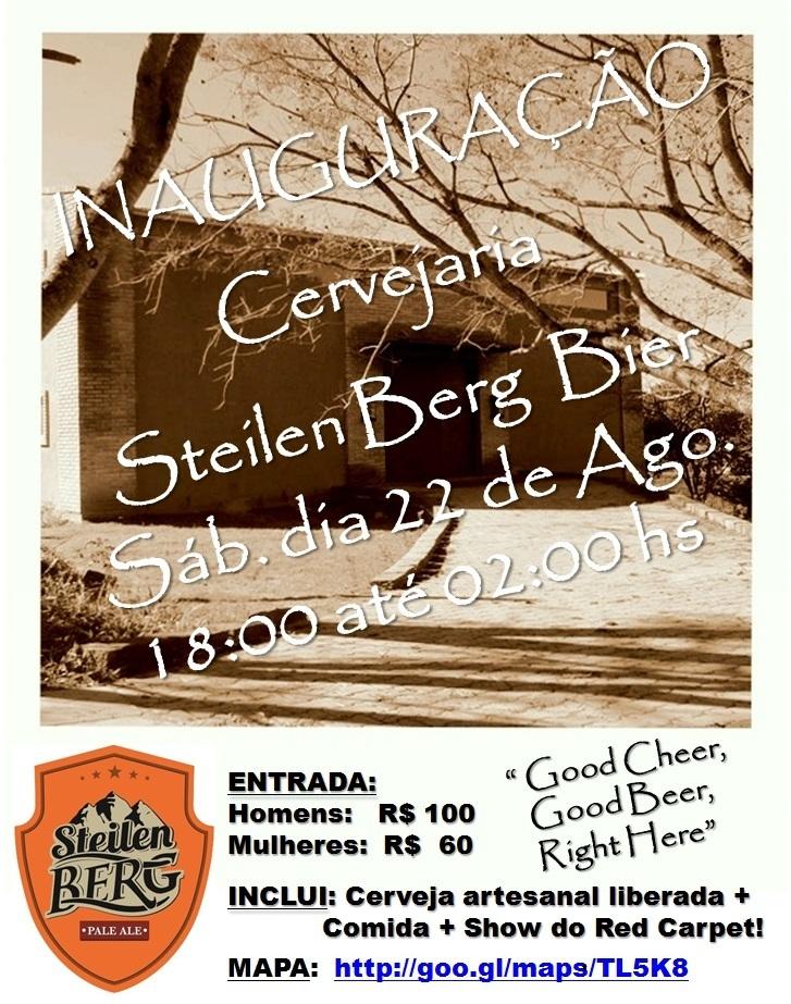 Folheto da inauguração da Steilen Berg Bier em agosto de 2015 (Foto: Divulgação)