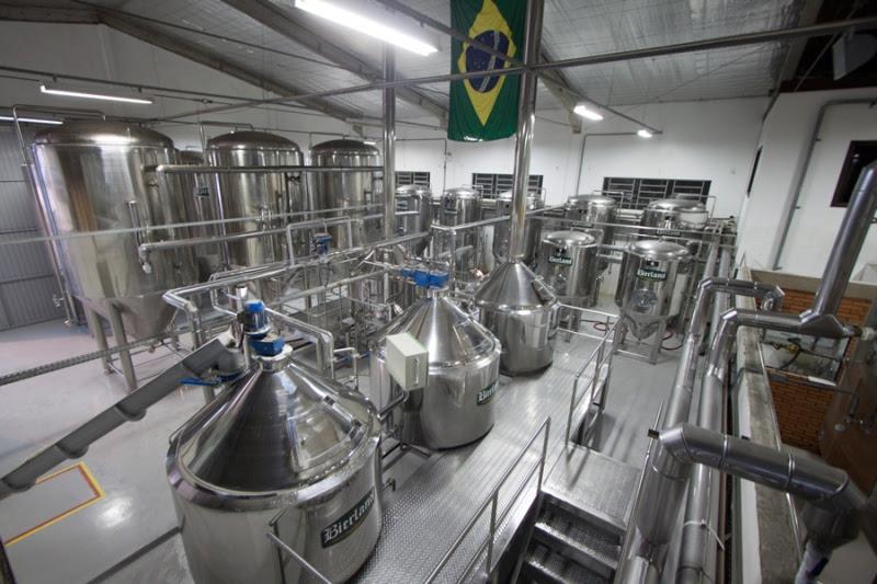 """A """"cozinha"""" da cervejaria, em Blumenau (Foto: Divulgação)"""