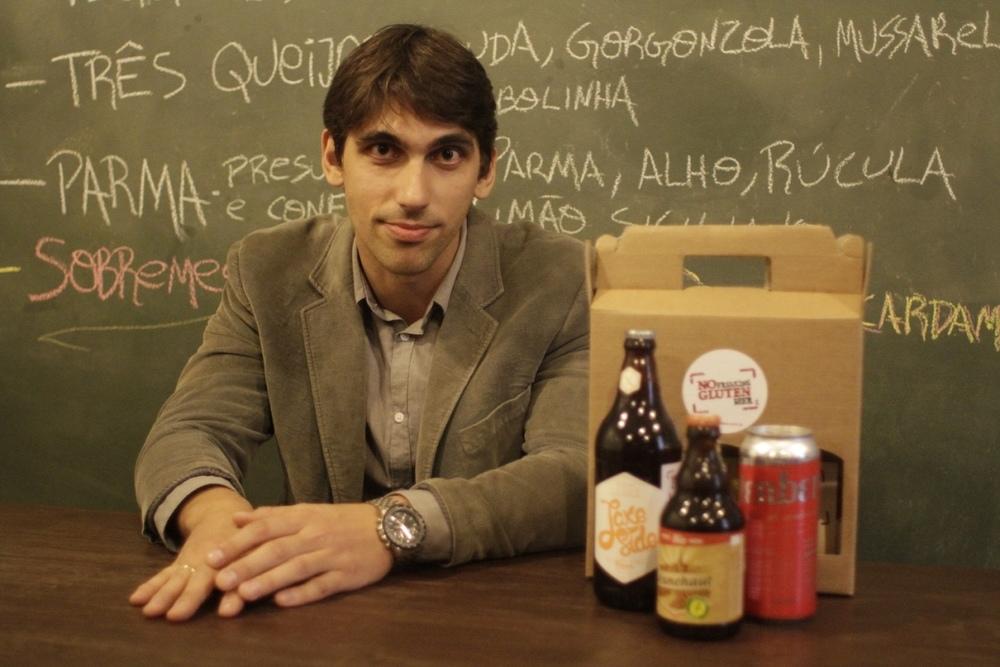 Christiano Ambros lançou em agosto a No Freaking Gluten Beer, e-commerce que também funciona como distribuidor (Foto: Altair Nobre/Beer Art)