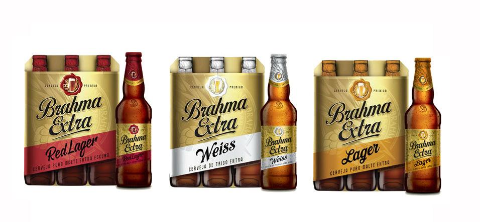 Brahma Extra Red Lager, Weiss e Lager são as novidades da tradicional marca (Foto: Divulgação)